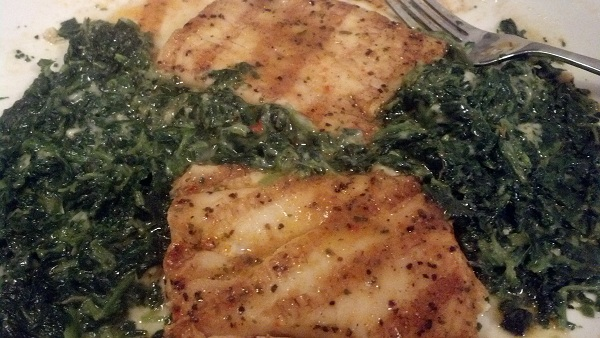Tilapia with Spinach