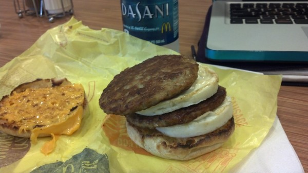 Low Carb Breakfast at McDonald's