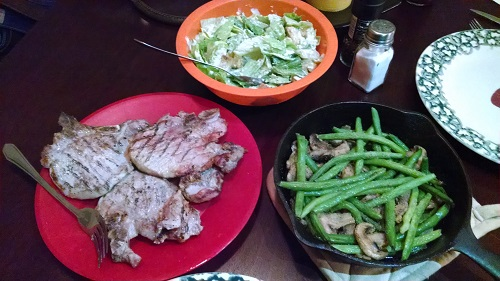 Low Carb Dinner on the Table