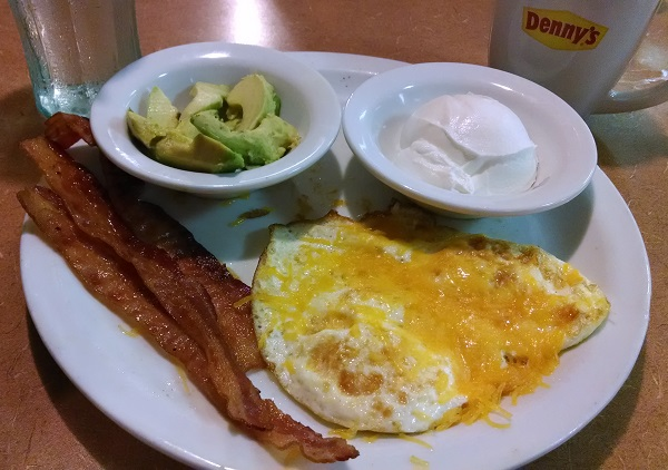 Low Carb Meal at Denny's