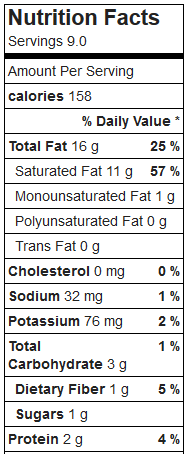 coconut oil candy low carb nutrition facts