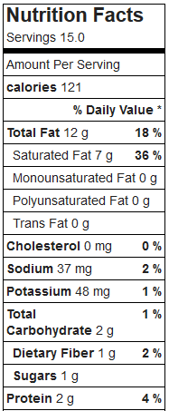 low carb peanut butter candy nutrition facts