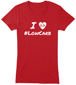 low carb womens tee red
