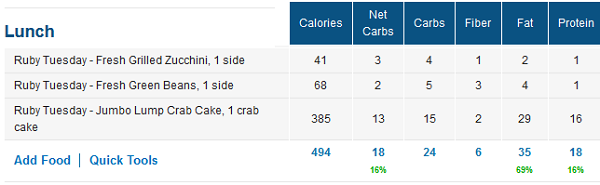 ruby tuesday low carb nutrition facts