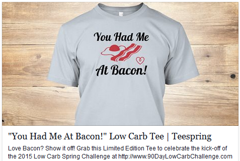 Low Carb T-Shirt for Bacon Lovers