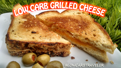 Delicious Low Carb Grilled Cheese Sandwich