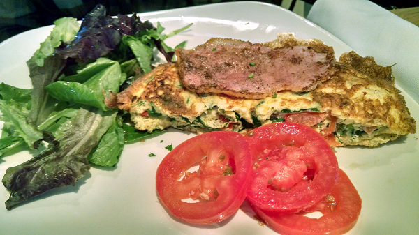 Spinach Feta Omelette at Milestones
