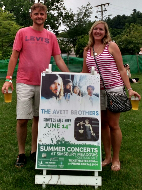 Avett Brothers Concert in Simsbury, CT