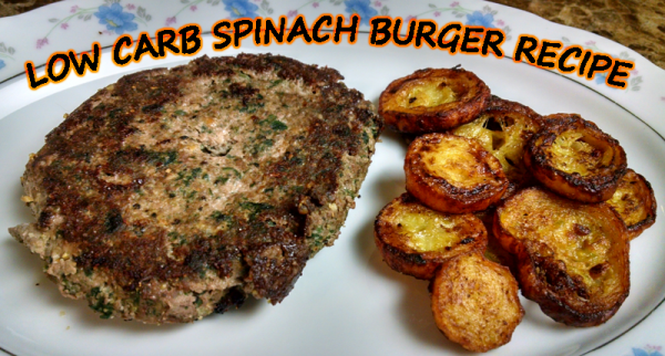 Low Carb Spinach Hamburger Steak Recipe