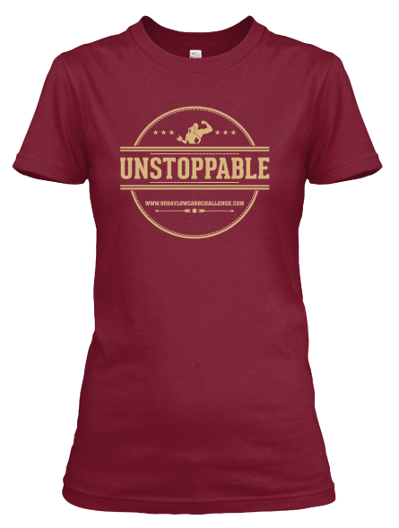 Unstoppable Low Carb T-Shirt, Red