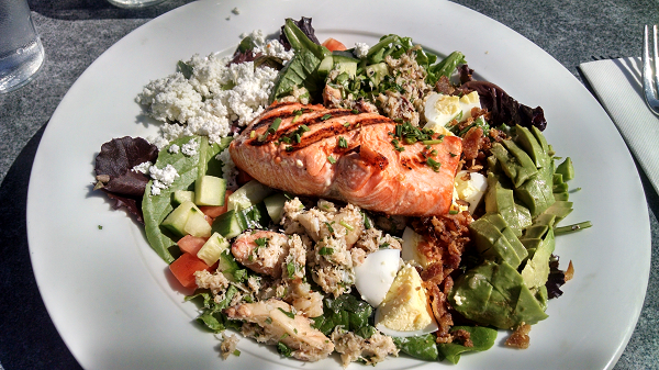 Low Carb Crab Cobb Salad at The Boathouse Restaurant