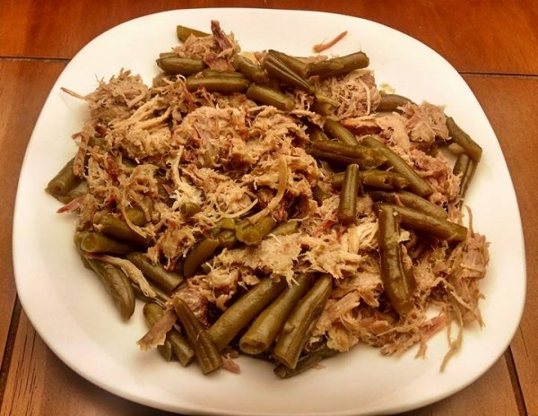Low Carb Leftovers - Pulled Pork and Green Beans