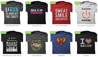 Did you see these fitness shirts? CUTE!!