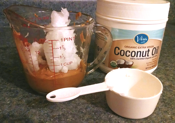 Mix Coconut Oil and Peanut Butter