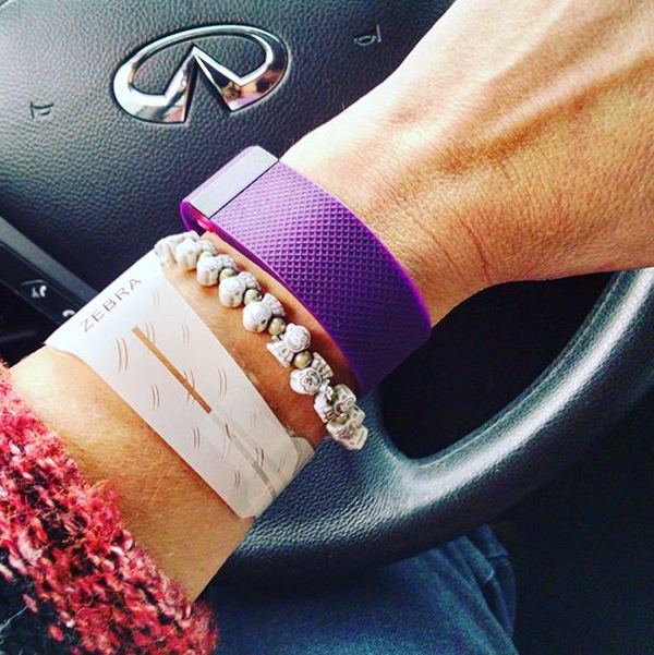My Fitbit Charge HR in Plum color