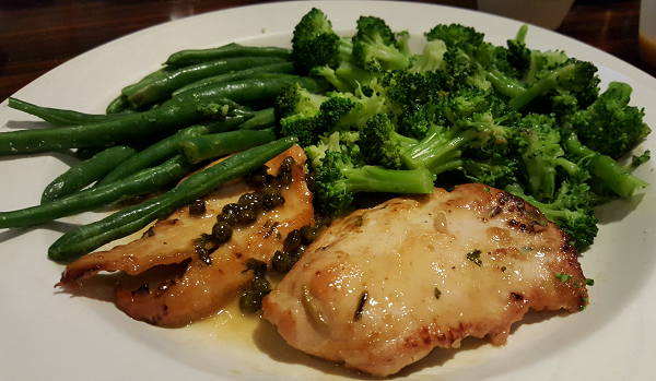 Chicken Picatta Low Carb Meal