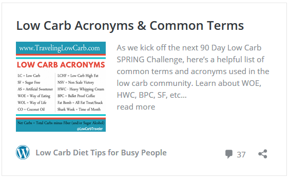 Common Low Carb Abbreviations