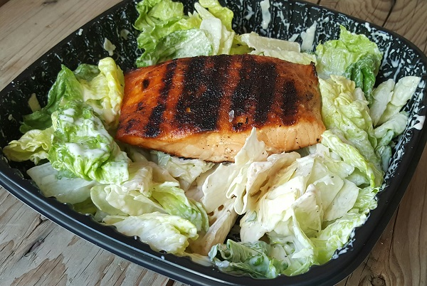 Low Carb Dinner at Applebee's - Grilled Salmon Caesar Salad with No Croutons