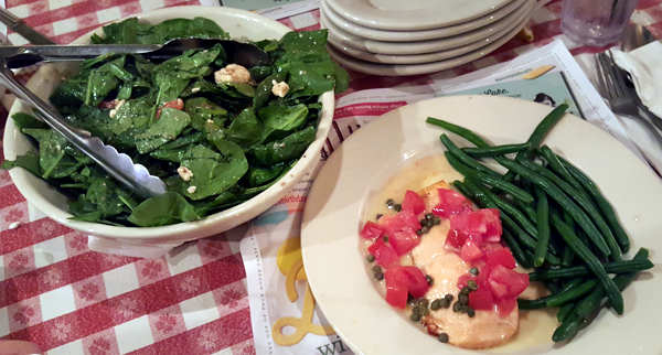 Eating Low Carb at Buca Italian