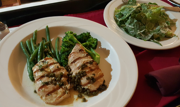 Low Carb Room Service: Chicken Picatta