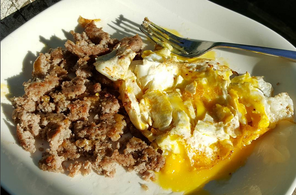 Low Carb Meal: Sausage & Dippy Eggs