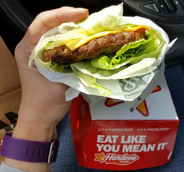 Low Carb Fast Food: Bunless Burger from Hardee's
