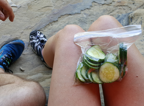 Low Carb Snacks For The Hike : Crisp Cucumber Slices