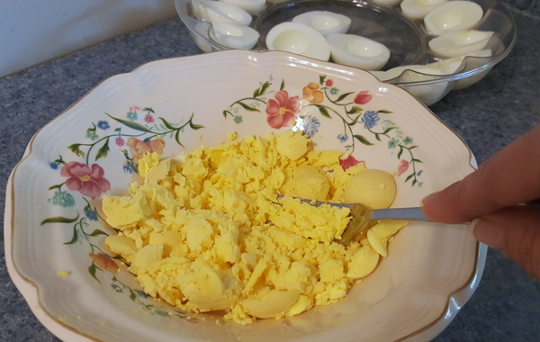 Making Deviled Eggs