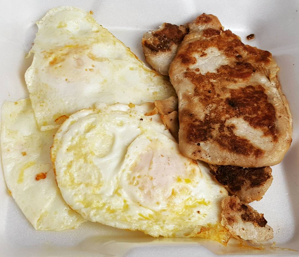 Zero Carb Breakfast : Fried Eggs & Grilled Tenderloin