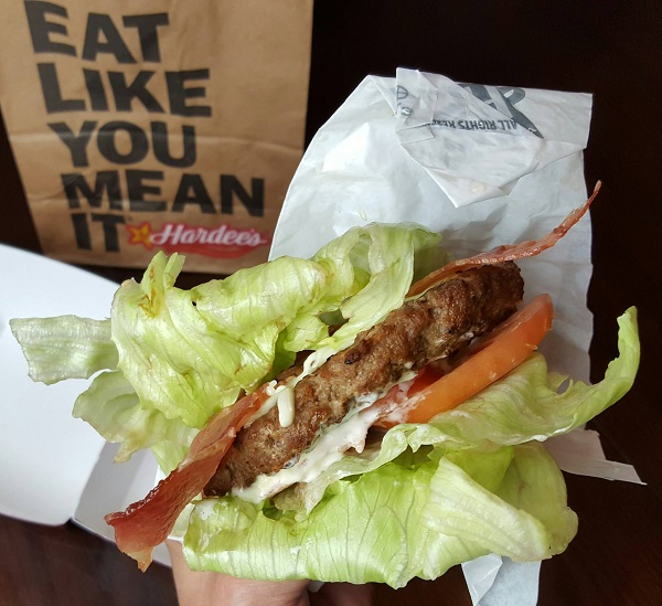 Fast Food Low Carb Hamburger from Hardee's