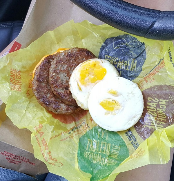 Low Carb Breakfast from McDonald's