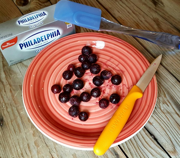Making Low Carb Crepes with Frozen Blueberries