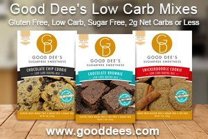 Sugar Free, Low Carb Cookie Mix and Brownie MIx