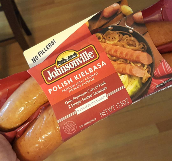 Johnsonville Kielbasa (Smoked Sausage) - No Fillers, Low Carb Friendly