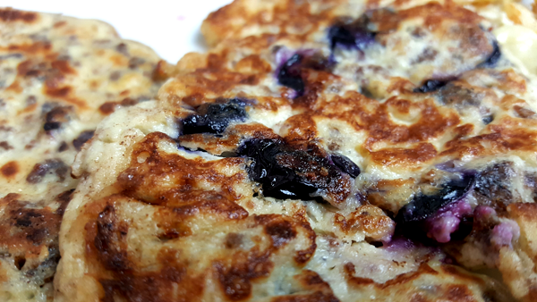 Low Carb Blueberry Crepes