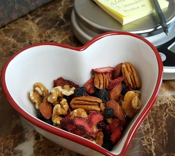 Low Carb Trail Mix - Walnuts, Almonds, Pecans, Dried Strawberries and Blueberries