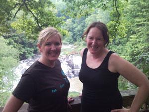Lynn Terry and Nicole Dean, Hiking Burgess Falls