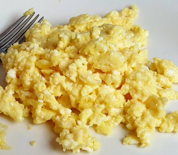 3 Scrambled Eggs, 1.2 carbs