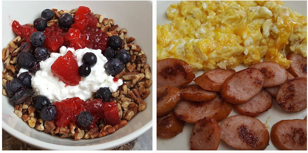 My low carb breakfast &  lunch