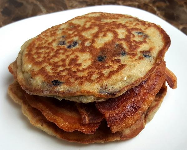 Low Carb Pancake & Bacon Sandwich