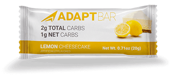 Low Carb Snack Bars - Adapt Your Life, Lemon Cheesecake