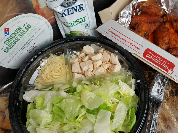 Low Carb Meal from Domino's Pizza - Caesar Salad & Mild Wings