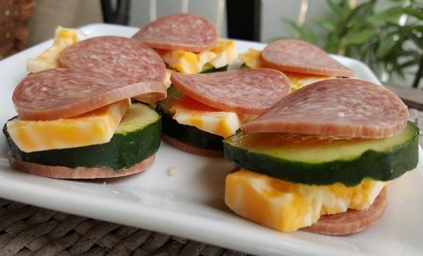Low Carb Salami Snacks