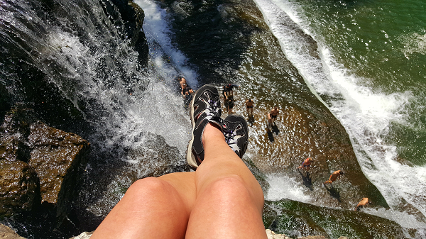 Living on the edge - Top of the waterfall :)