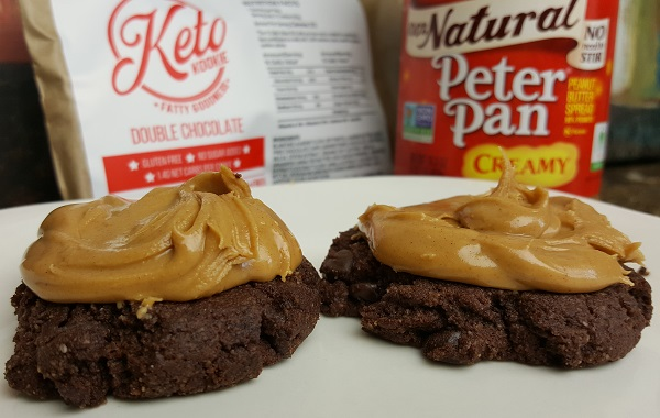 Keto Cookies - Double Chocolate with Peanut Butter