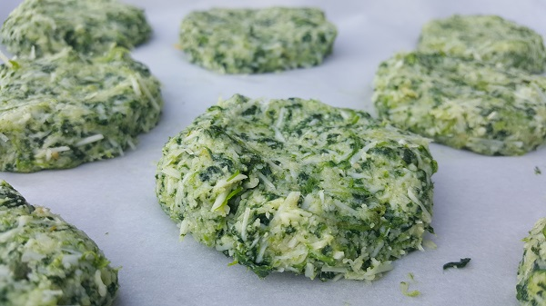 Making Low Carb Spinach Biscuits