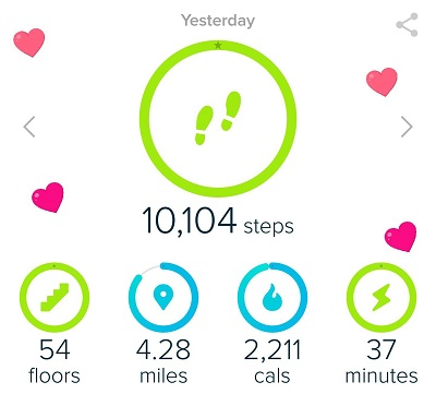 Fitbit 10,000 Step Goal