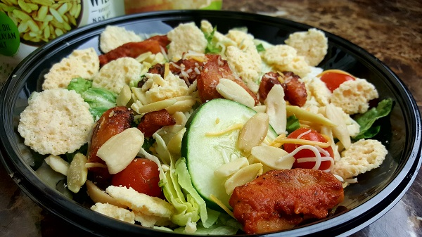 Low Carb Salad from Bojangles - with Parmesan Crisps & Pili Nuts