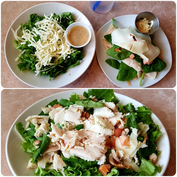 Low Carb Meal at a Local Bistro (Sandwich Shop)