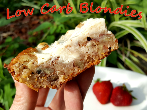 Low Carb Recipe: Cream Cheese Pecan Blondies